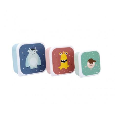 3 Cajas Almuerzo Little Monsters